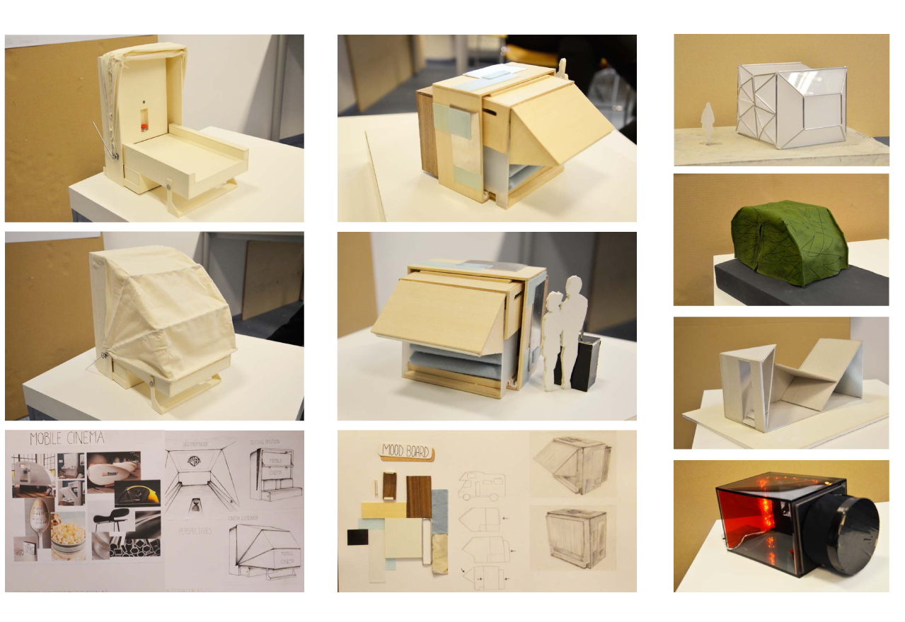 Projects by 1st and 2nd semester students at Berlin International